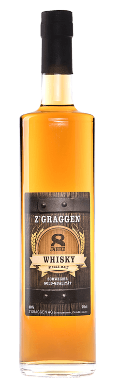 Z'Graggen Single Malt Whisky 8-jährig